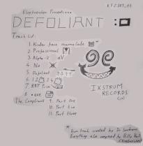 Cover Art for Defoliant