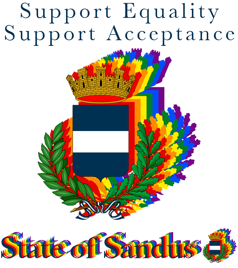 Sandus is a vocal proponent of LGBTQIA rights, including but certainly not limited to same-sex marriage.