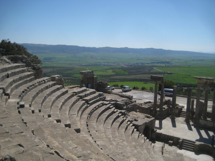 The Theatre in Dougga, Tunisia, from the Sôgmô's visit to Tunisia in 2010 as Chairman of the Revolutionary Council of the Democratic People's Republic of Sandus.
