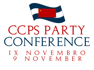 The Poster for the 9 November CCPS Party Conference.