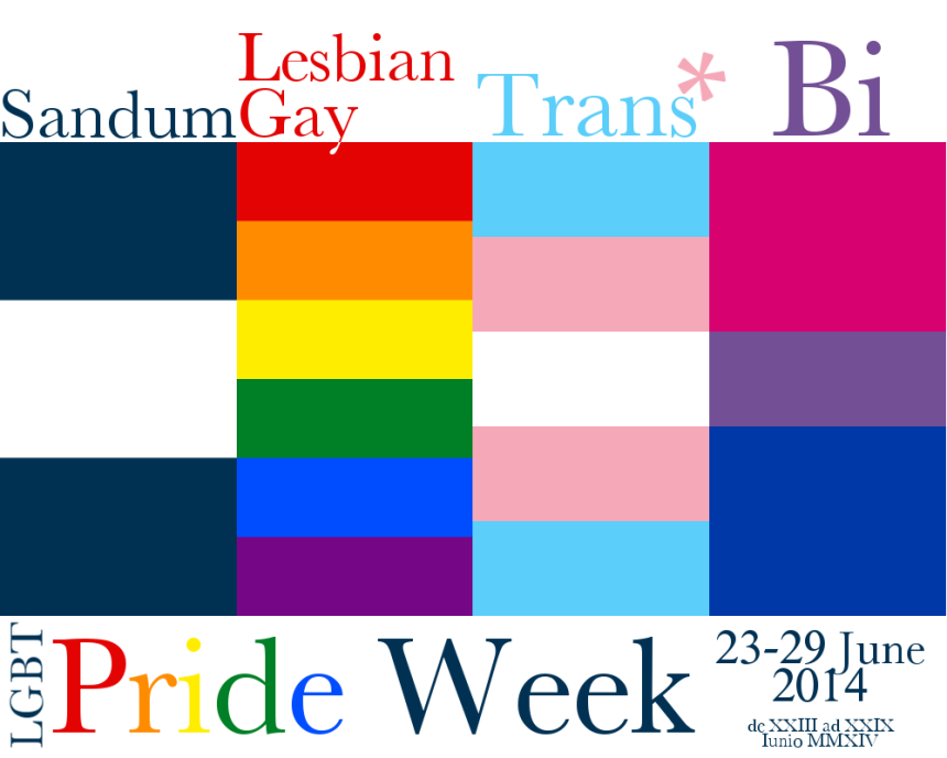 Sandum LGBT Pride Week poster for MMXIV (2014).