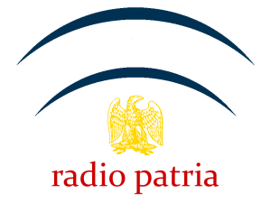 One of two logos for the new radio station, Radio Patria.