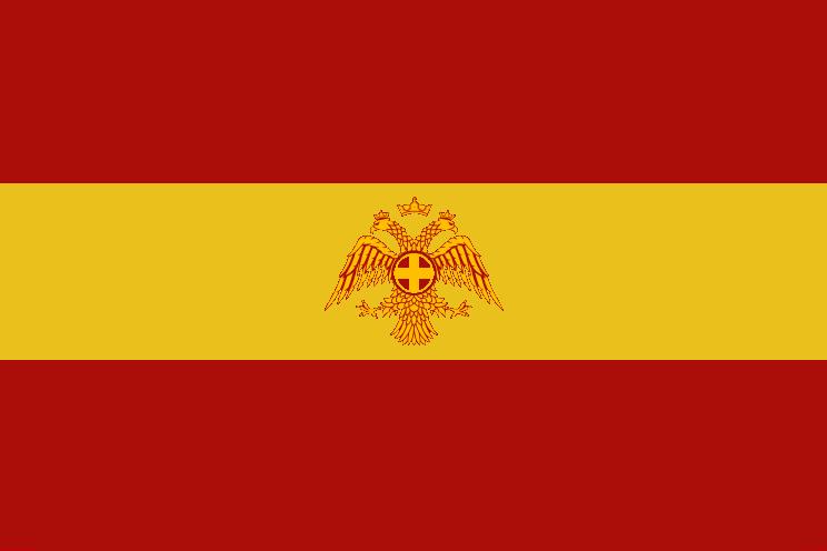 La drapeau ancienne de Sandus pour la première baronnie de Sandus (déc. 2009 — avr. 2010). La zénith de l'influence de la langue française et de la culture française était sous la première baronnie.