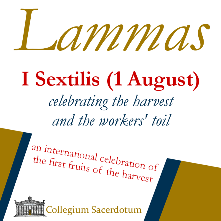 The Collegium Sacerdotum's Lammas poster, produced by Erganê Artisanal Cooperative.