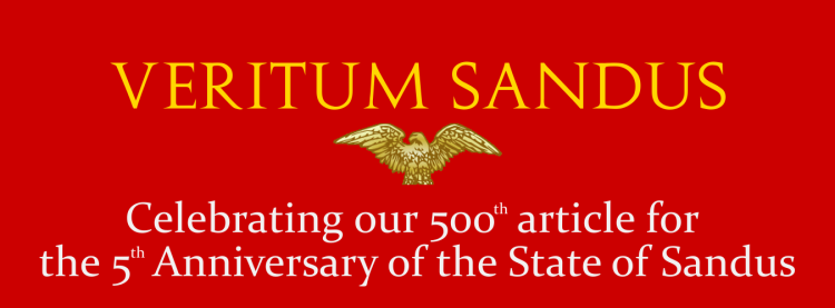 VeritumSandus - 500 Articles for 5 Years.png